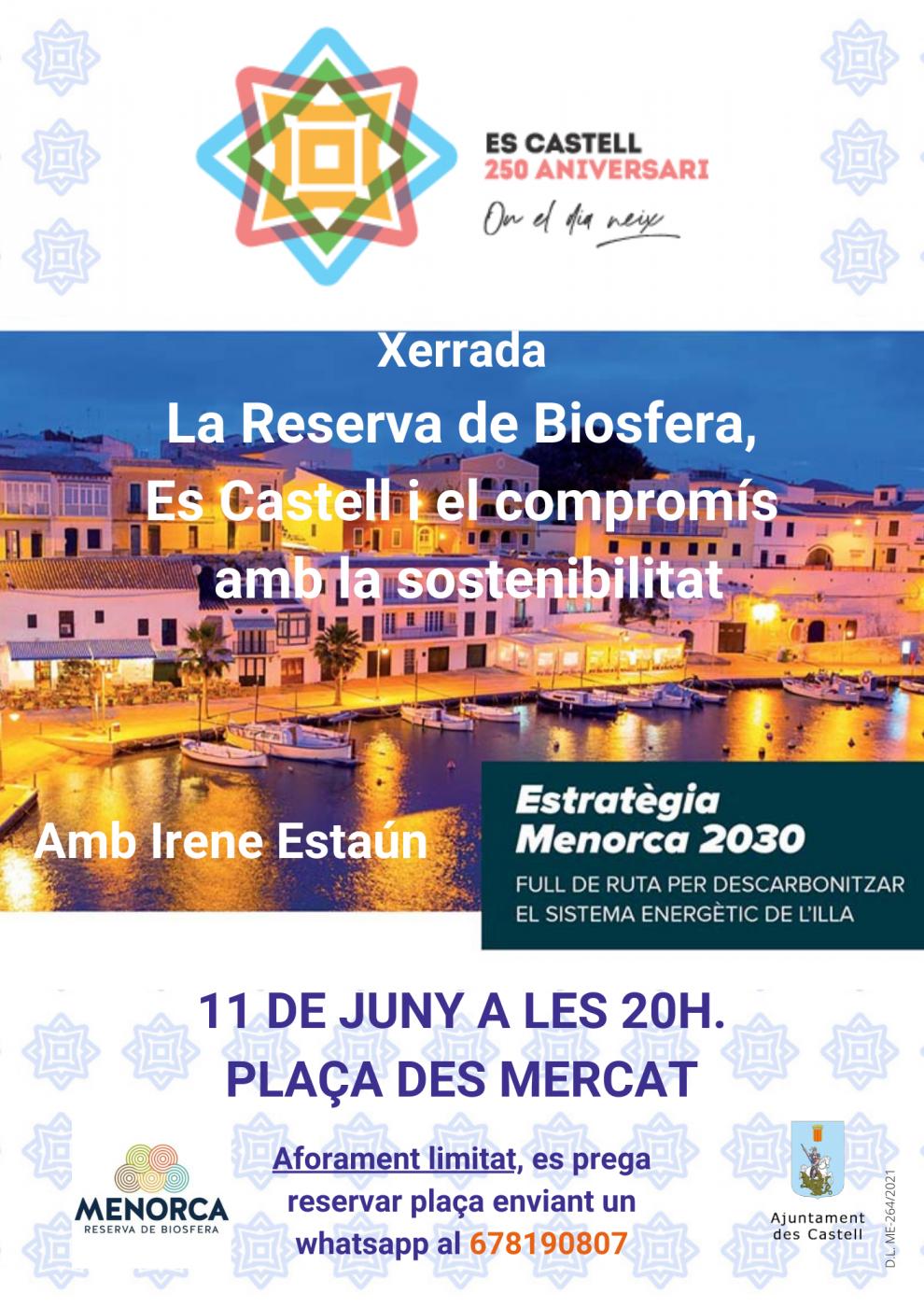 Xerrada sobre la reserva de biosfera de Menorca